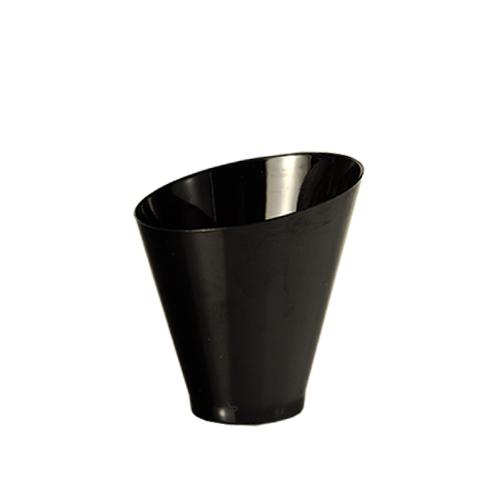 Kubek okrągły czarny diagonal 70ml 6x6,4cm 25 szt. art.85660