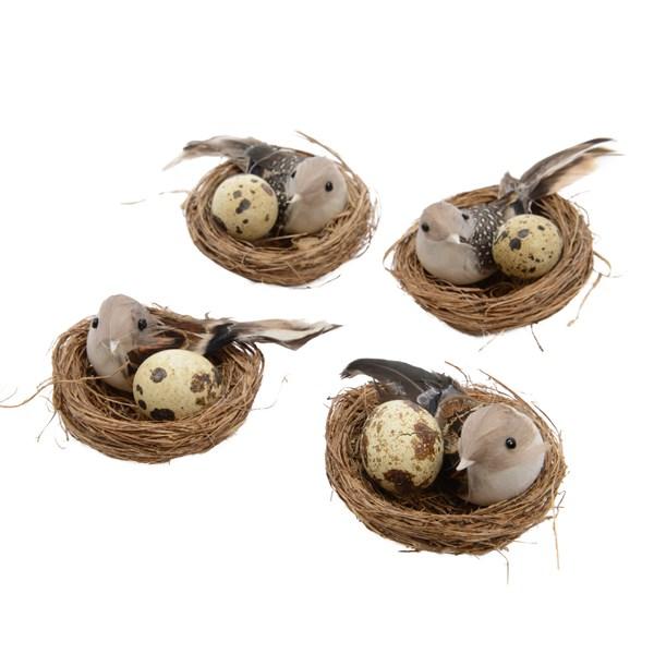 Ptaszek w gnieździe z jajkiem 7cm