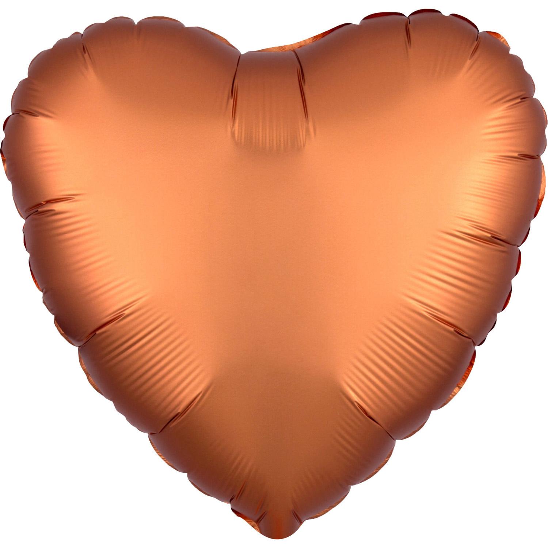 Balon foliowy satynowy serce bursztynowe 43cm